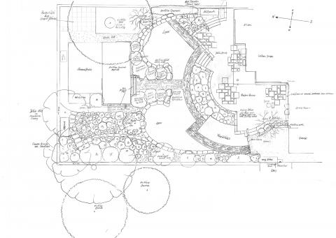 Cottage Garden Outline Plan