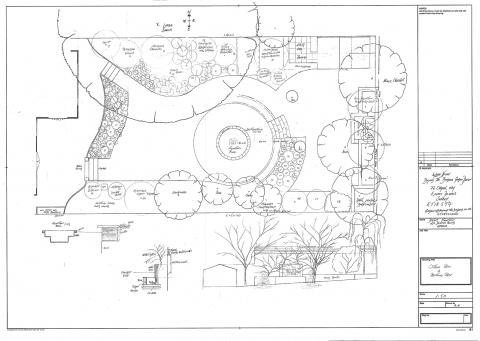 Large Urban Garden In Epsom Outline Plan